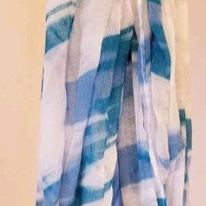 Nordstrom blue and white scarf